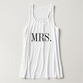 Skjorta för Fru brudbröllop Linne Med Racerback