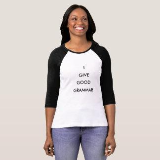 Skjorta för grammatik T Tee