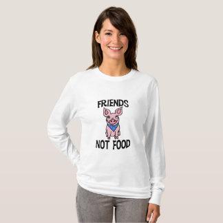 Skjorta för gris för mat för vänner inte gullig tee
