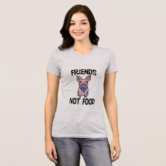 Skjorta för gris för mat för vänner inte gullig tshirts