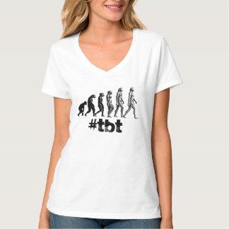 Skjorta för hashtag för evolution för tee shirt
