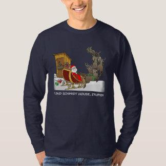 Skjorta för jul för Schmidt hus rolig Tshirts