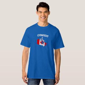 Skjorta för Kanada flaggakarta Tee Shirt