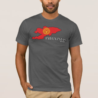 Skjorta för Kirgizistanflaggakarta Tee Shirt