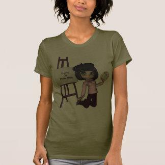 Skjorta för konstnärflickastaffli tee shirt