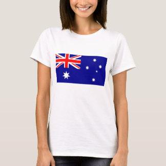 Skjorta för kvinnor T med flagga av Australien Tshirts