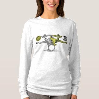 Skjorta för långärmad för Hermes fågelfärg Tshirts