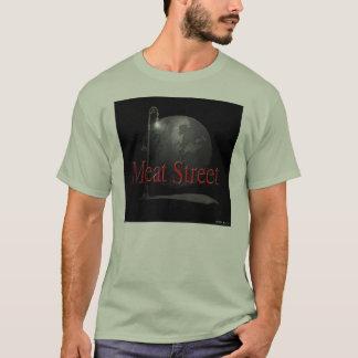 Skjorta för logotyp för köttgatasvart tee shirts