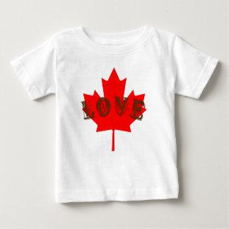 Skjorta för lönnlöv för kärlekKanada dag röd T Shirts