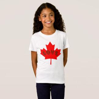 Skjorta för lönnlöv för kärlekKanada dag röd Tee Shirts