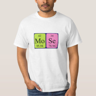Skjorta för Mose periodisk bordnamn Tröjor