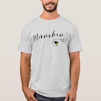 Skjorta för München hjärtautslagsplats, Munich T Shirt