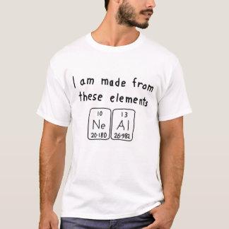 Skjorta för Neal periodisk bordnamn Tee Shirt