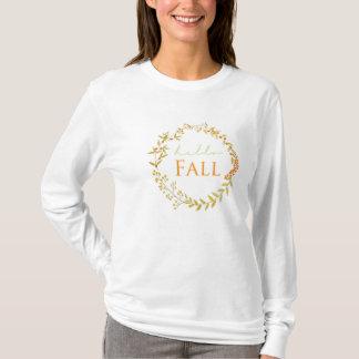 Skjorta för nedgångvattenfärgkran tee shirt