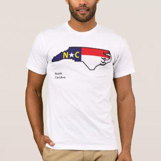 Skjorta för North Carolina flaggakarta Tröjor