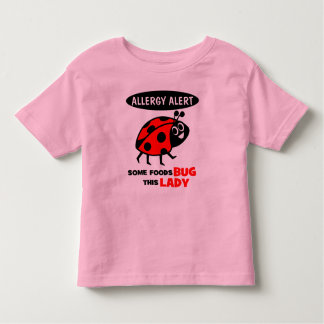 Skjorta för nyckelpiga för matallergi vaken t-shirts