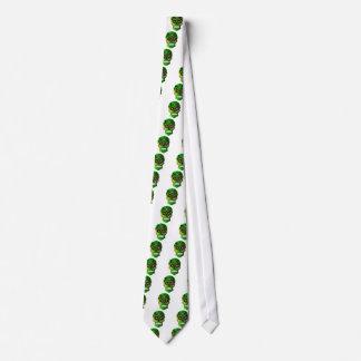 Skjorta för ogräs för day of the deadsockerskalle slips