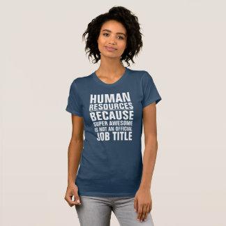 Skjorta för personalresursjobbtitel tröjor
