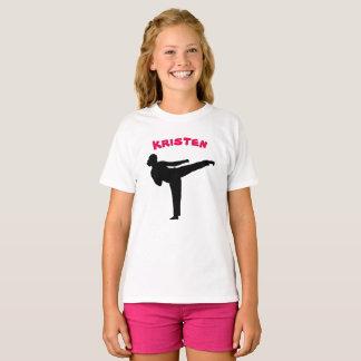 Skjorta för personligKarateflicka T Shirt