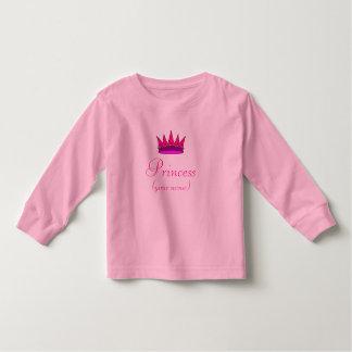 Skjorta för personligsmåbarnPrincess (rosakronan) T-shirt
