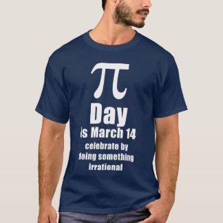 Skjorta för Pi-dagfirande, mörk T Shirts