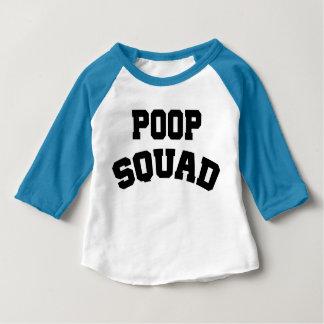 Skjorta för Raglan för PoopSquadbaby Tee