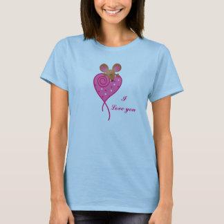 Skjorta för rosakärlekmus tröjor