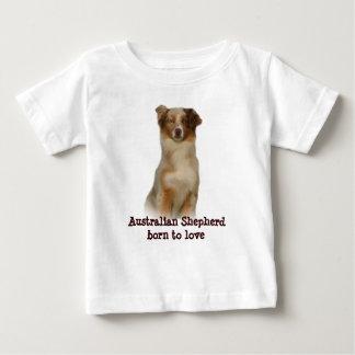 Skjorta för rött småbarn för australian shepherd t shirts