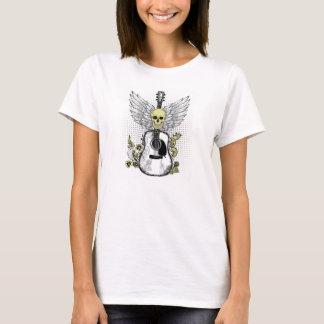 skjorta för skalle t med gitarren t-shirt