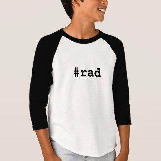 Skjorta för sleeve för Hashtag Rad ungeRaglan 3/4 T Shirts