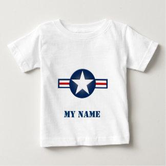 Skjorta för spädbarn för personligflygvapenlogotyp tröja