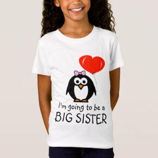 Skjorta för storasyster t för pingvintecknad för tröja