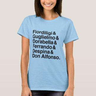 Skjorta för tecken för Così fläkttutte T Shirt