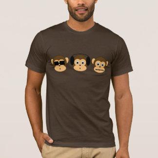 Skjorta för tre klok apor tshirts