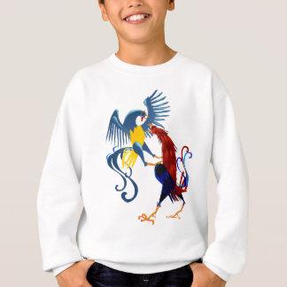 Skjorta för två färgrik stridighettuppar t-shirts