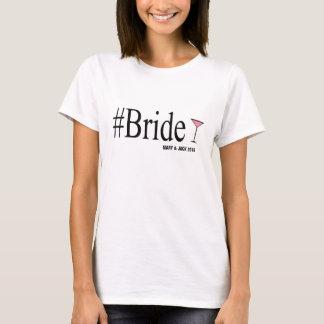 Skjorta för utslagsplats för Hashtag brudnovelty T Shirts