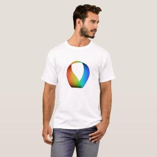 Skjorta för utslagsplats för regnbågeMobius remsa Tshirts