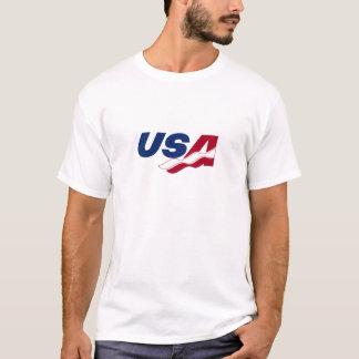 Skjorta för utslagsplats för USA Racquetball torr T-shirts
