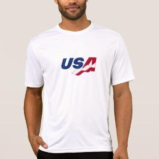 Skjorta för utslagsplats för USA Racquetball torr Tröjor