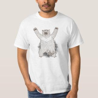 Skjorta för vit Grrr för rolig björn ryta Tröjor