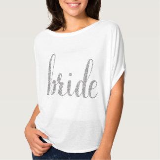 Skjorta för vit- & silvergnistrabrud t shirts