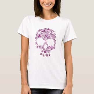 Skjorta med en härlig blommaScull T Shirts