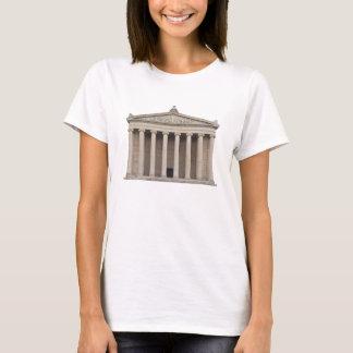 Skjorta med klassisk grekisk arkitektur tee shirts