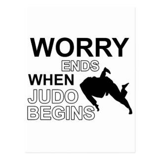 Skjortadesign för Judo T Vykort