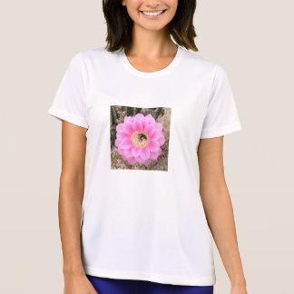 Skjortakvinna rosa blomma för kaktus tröja