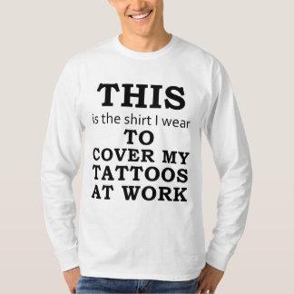 Skjortan som jag ha på sig för att täcka min tröjor
