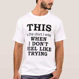 Skjortan som jag ha på sig, när jag inte gör likt t-shirt