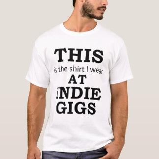 Skjortan som jag ha på sig på Indie Gigs Tee Shirt