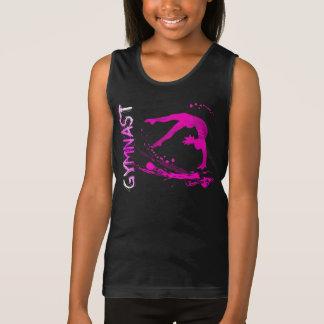 Skjortor för rosastänkgymnast hänger lös knäppas tee shirts