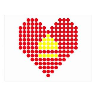 Skjut ut hjärta vykort